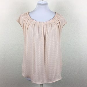LC Lauren Conrad Pleated Short Sleeve Blouse